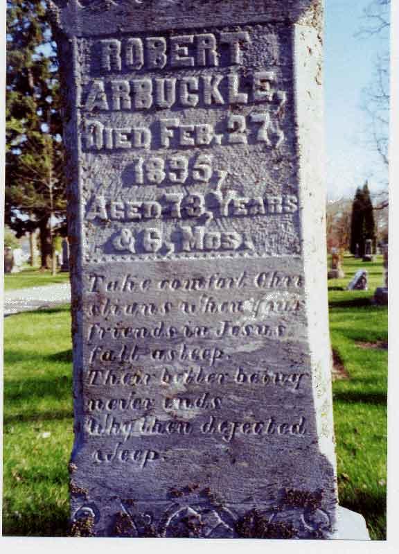 Robert Arbuckle gravestone
