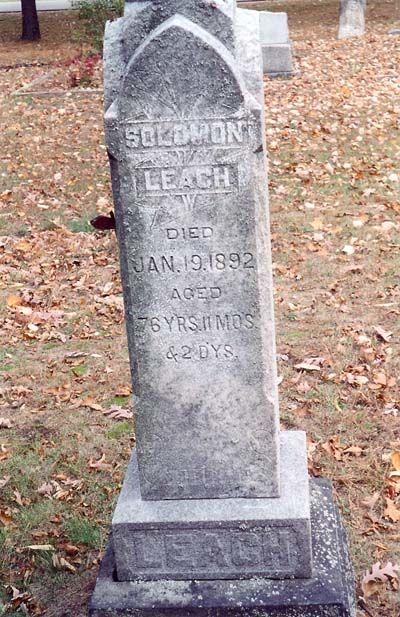 Solomon Leach gravestone