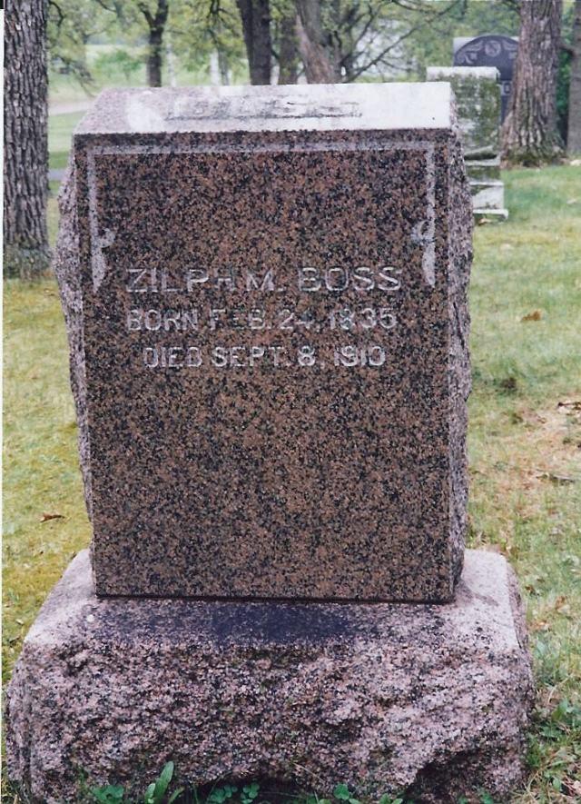 Zilpha Shipman Boss Grave Marker